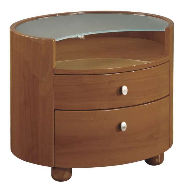 Evelyn Kids Night Stand - Cherry - Global Furniture