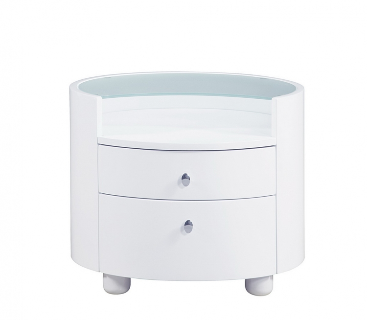 Evelyn Kids Night Stand - White - Global Furniture