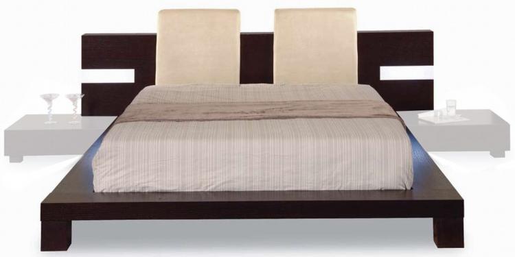 GF-G020 Bed - Beige/Wenge