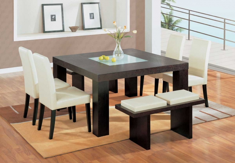 GF-G020 Beige Dining Set - Global Furniture