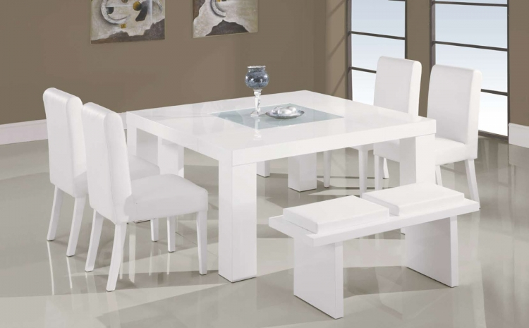 G020 White Dining Set - Global Furniture