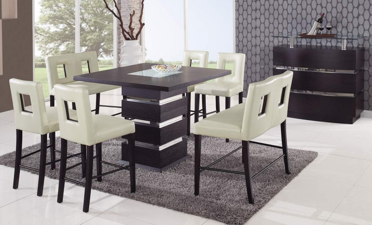 G072 Counter Height Dining Set - Beige - Global Furniture