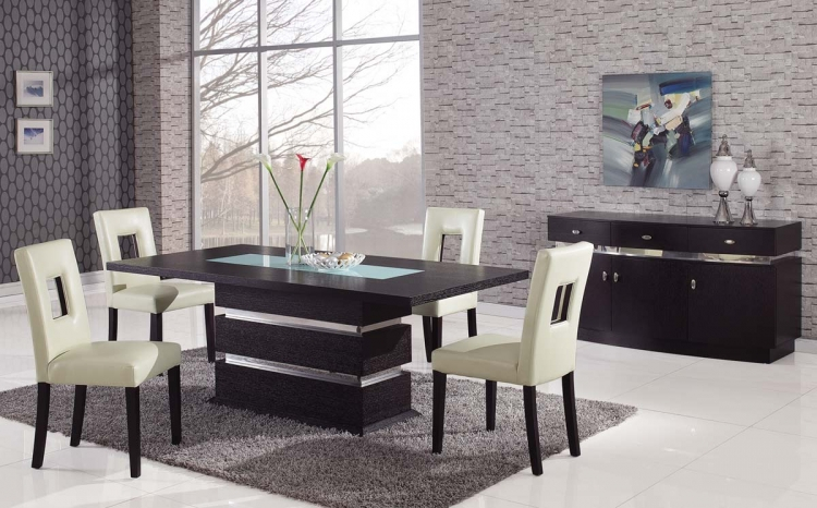 G072 Dining Set - Beige - Global Furniture