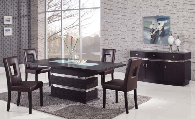 G072 Dining Set - Brown - Global Furniture