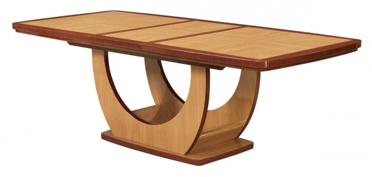 Greta Dining Table-Oak and Cherry