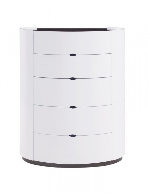 Gia Chest - White/Wenge - Global Furniture