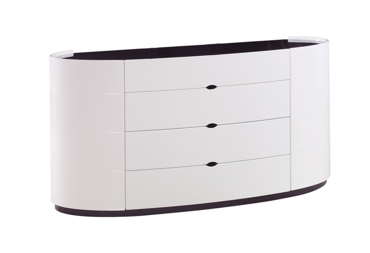 Gia Dresser - White/Wenge - Global Furniture