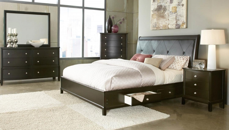 Jenna Bedroom Set - Espresso - Global Furniture