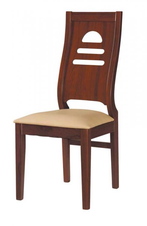 GF-63 Dining Chair-Beige-Mahogany