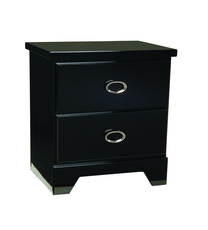 Khloe Nightstand - Black