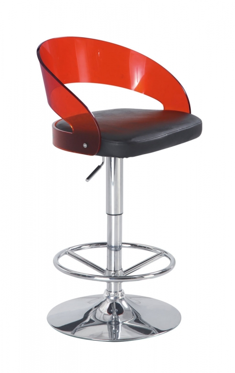 208 Bar Stool - Red/Black - Global Furniture