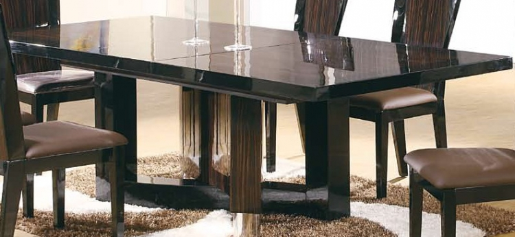 Madison Dining Table - Dark Brown/Black