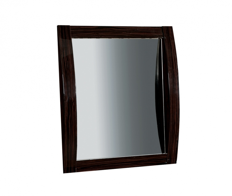 Madison Mirror - Black/Zebrano - Global Furniture