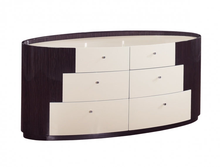 New York Dresser - Beige/Wenge - Global Furniture