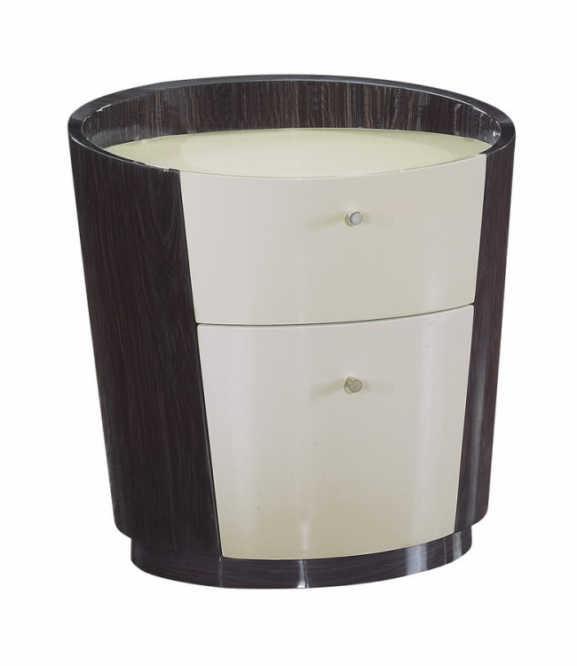 New York Night Stand - Beige/Wenge - Global Furniture