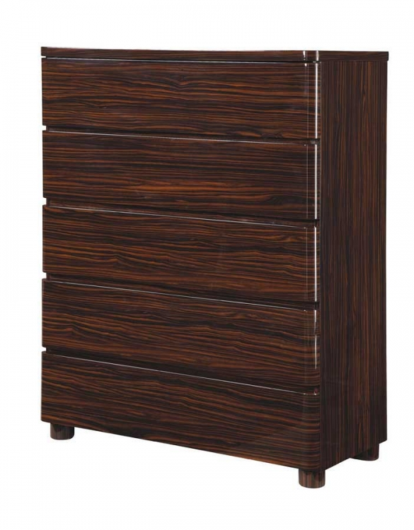 Global Furniture USA Rio Chest-Dark Zebrano