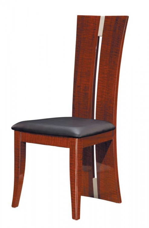 Rosa Dining Chair - Black PVC with Burbenga