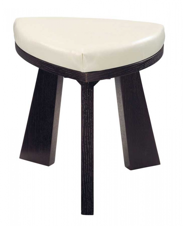 GF-64 Dining Chair - Cappuccino Leather Cushion and Wenge Wood