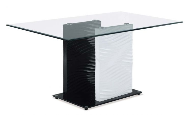 1021 Coffee Table - White/Black - MDF Legs