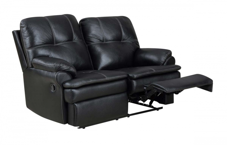 1078 Motion Love Seat - Printed MicroFiber - Black - Global Furniture