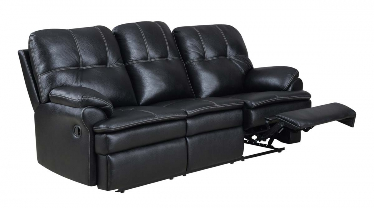 1078 Motion Sofa - Printed MicroFiber - Black - Global Furniture
