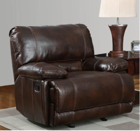 1953 Glider Recliner - Bonded Leather - Brown