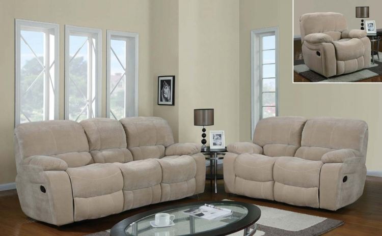 2007 Reclining Sofa Set - Champion - Froth - Global Furniture