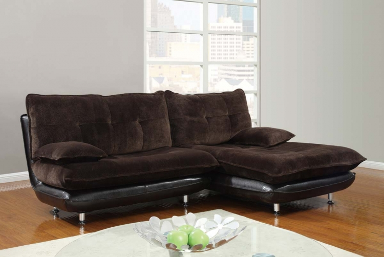 3613 2 Piece Sectional Sofa - Champion Chocolate - Global Furniture