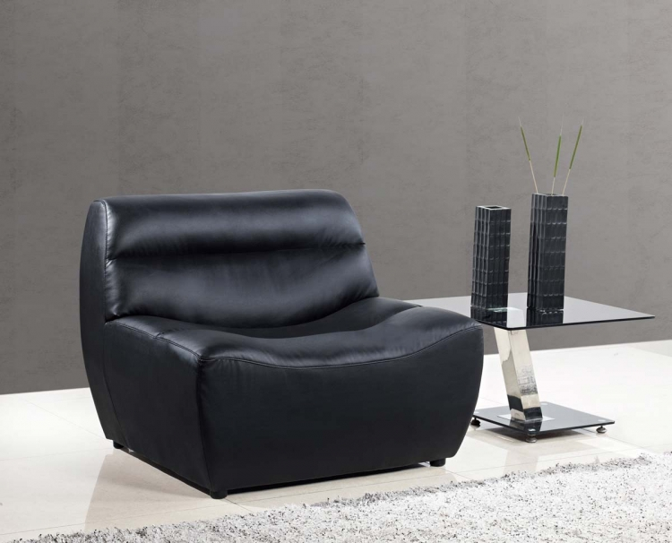 3730 Chair - Black/Bonded Leather with Vinyl Legs - Global Furniture