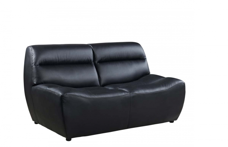 3730 Love Seat - Black/Bonded Leather with Vinyl Legs - Global Furniture