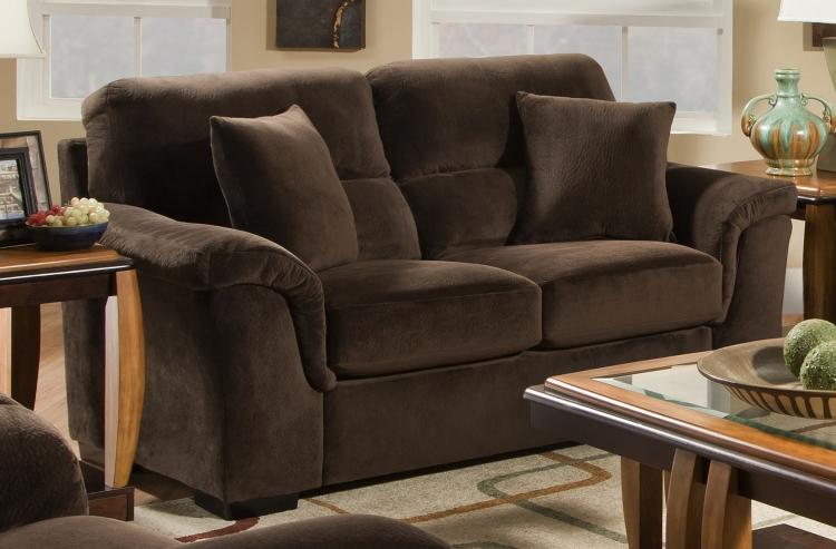 3880 Loveseat - Argus Fabric - Coffee - Global Furniture