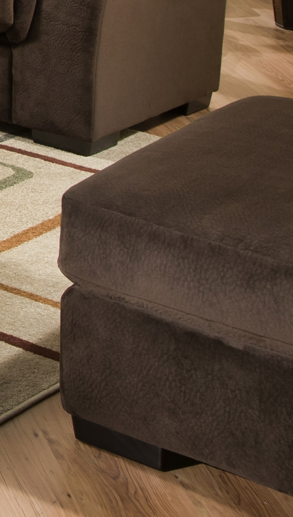 3880 Ottoman - Argus Fabric - Coffee