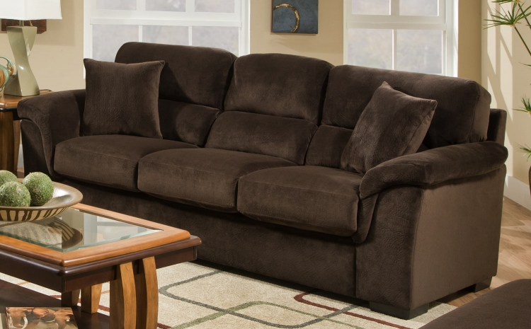 3880 Sofa - Argus Fabric - Coffee - Global Furniture