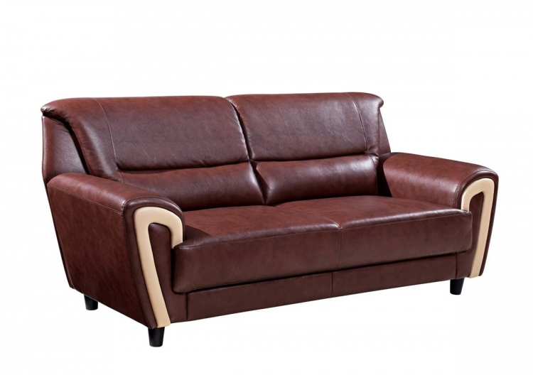 4180 Sofa - Brown/Cappuccino/Bonded Leather - Global Furniture