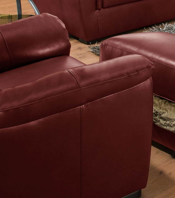 6541 Chair - Bonded Leather - Crimson - Global Furniture
