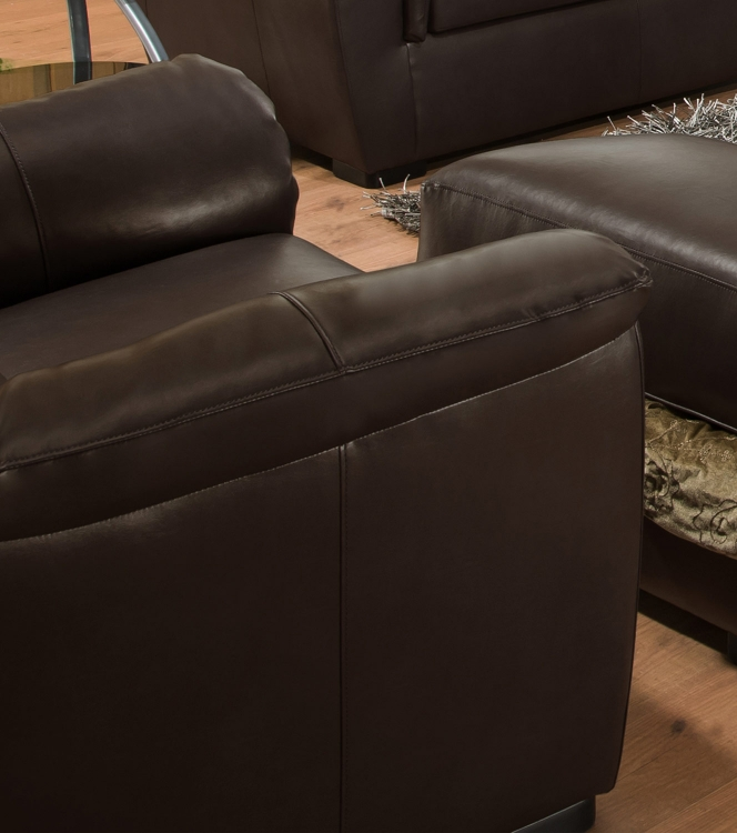 6540 Chair - Bonded Leather - Espresso - Global Furniture