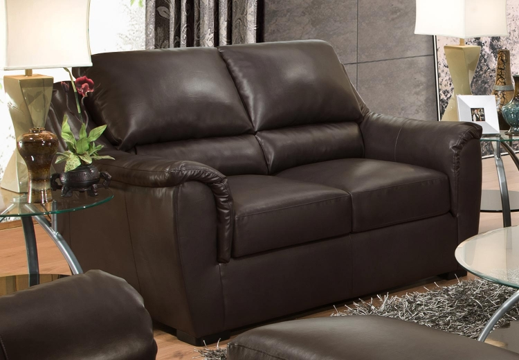 6540 Loveseat - Bonded Leather - Espresso