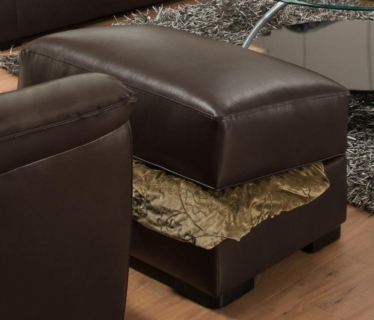6540 Storage Ottoman - Bonded Leather - Espresso