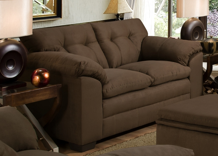 6765 Loveseat - Micro Fabric - Espresso - Global Furniture