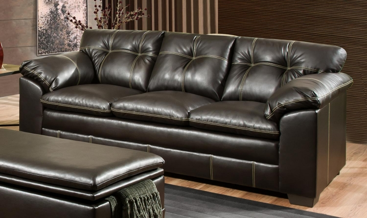 6769 Sofa - Bonded Leather - Chocolate - Global Furniture