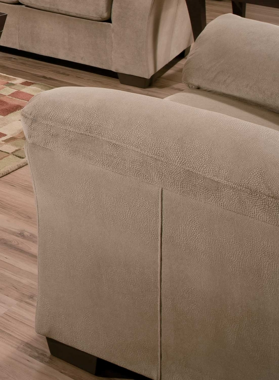 9020 Chair - Vel Suede - Beige - Global Furniture