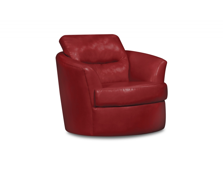9500 Swivel Chair - Bonded Leather - Cardinal - Global Furniture