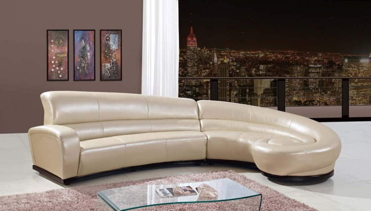 958 2 Piece Sectional Sofa - Pearl - Bonded Leather - Global Furniture