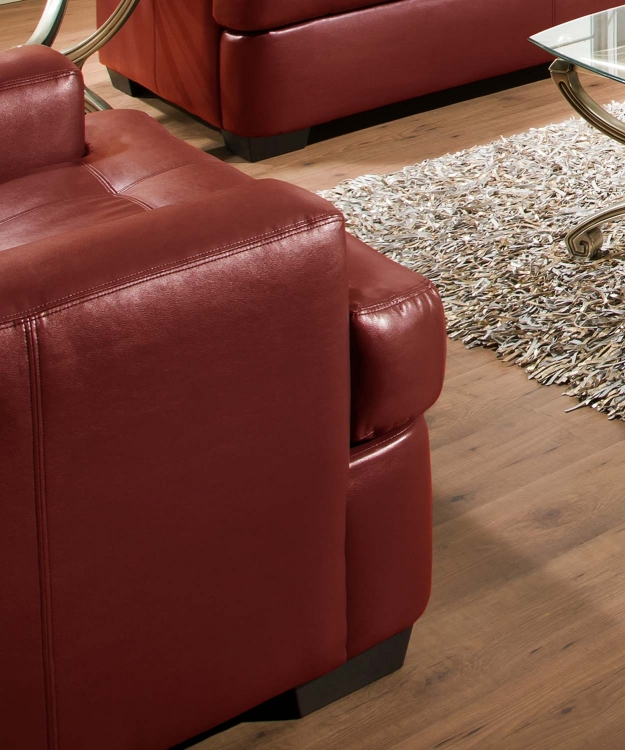 9591 Chair - Bonded Leather - Cardinal - Global Furniture