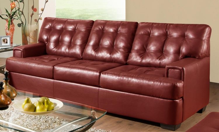 9591 Sofa - Bonded Leather - Cardinal - Global Furniture