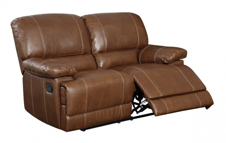 9963 Reclining Love Set - Bonded Leather - Brown