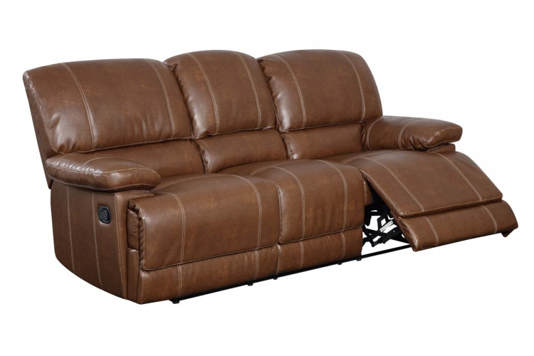 9963 Reclining Sofa - Bonded Leather - Brown