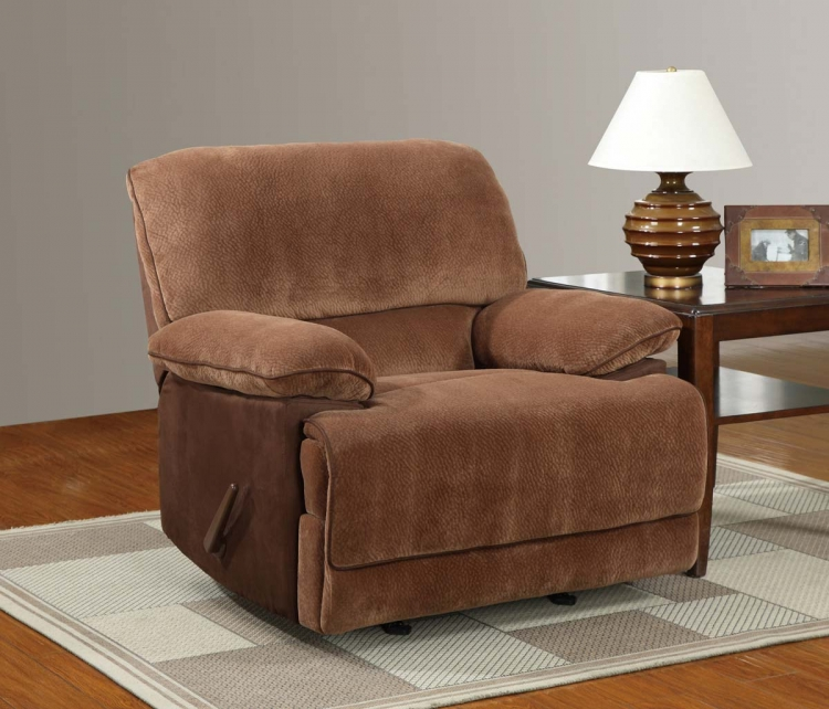 9968 Rocker Recliner Chair - Champion - Brown Sugar - Global Furniture