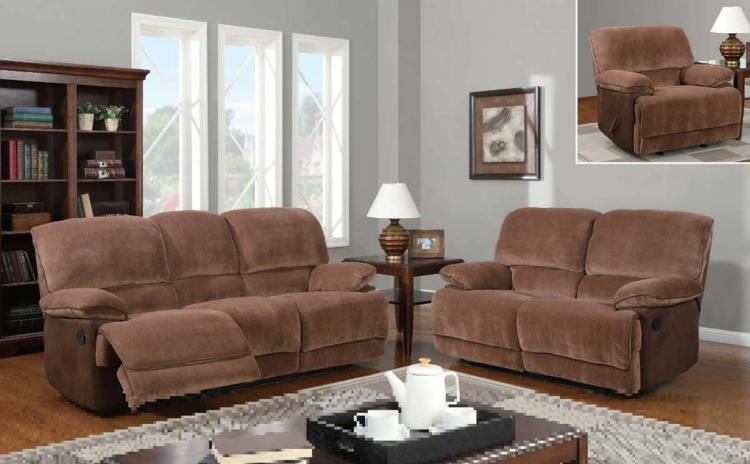 9968 Reclining Sofa Set - Champion - Brown Sugar - Global Furniture