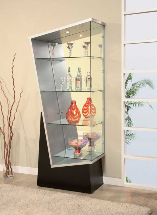 V235 Display Unit - Black/Silver - Global Furniture